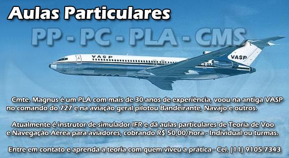 Aulas particulares de aviação – Cmte. Magnus