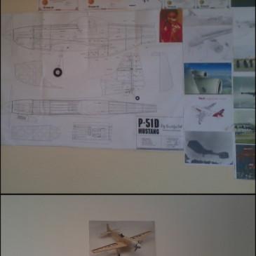 O quarto de um futuro aviador