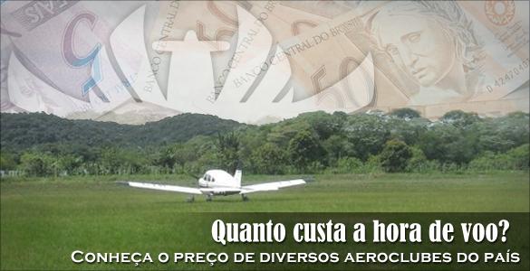 Preco Horas Voo Canal Piloto Preços de Aeroclubes do Brasil