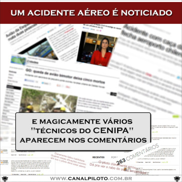 Notícia de acidente aéreo