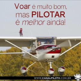 Voar é bom…