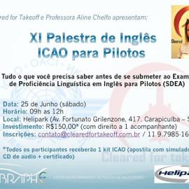 Vaga para curso de inglês ICAO em SP: Ganha quem tiver mais agilidade