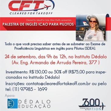 Palestra de Inglês ICAO para Pilotos – São Paulo