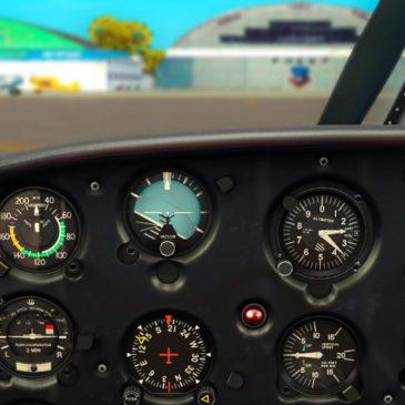 Simulador: Voando olhando para os reloginhos