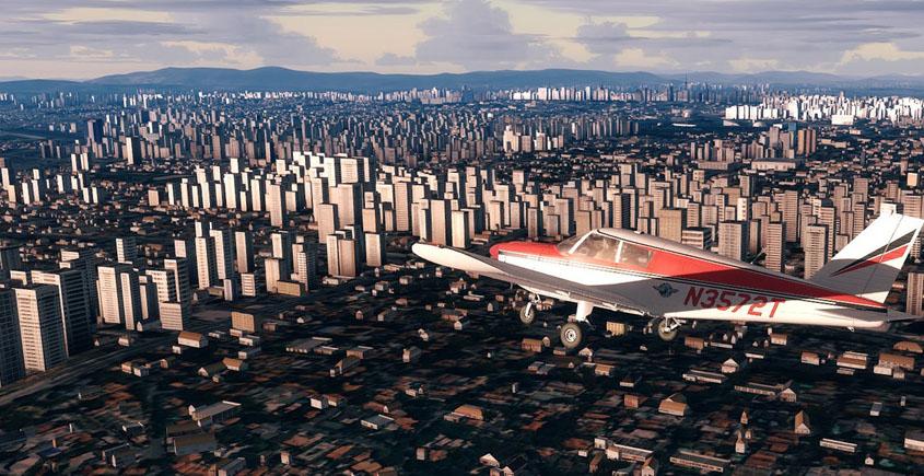 Voando no Simulador de Voo... Olhando para o chão_Canal_Piloto