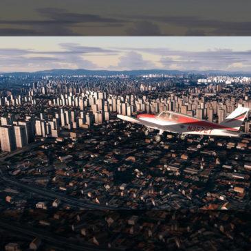 Simulador: Voando olhando para o solo